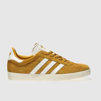Adidas Yellow Gazelle Suede Womens Trainers