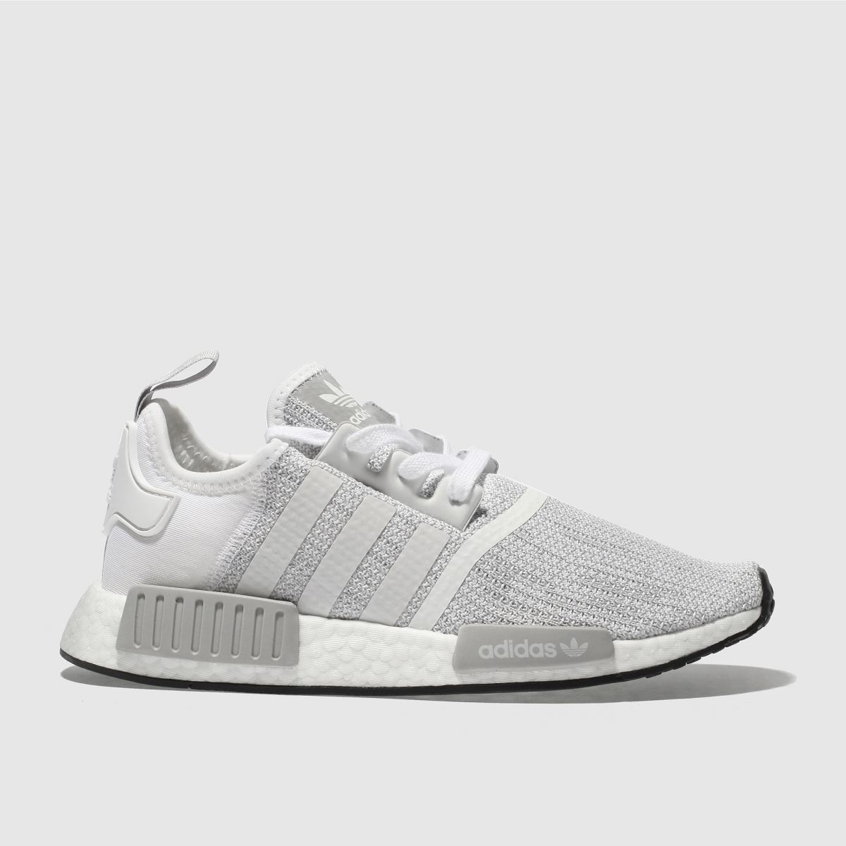 Adidas White & Grey Nmd R1 Trainers