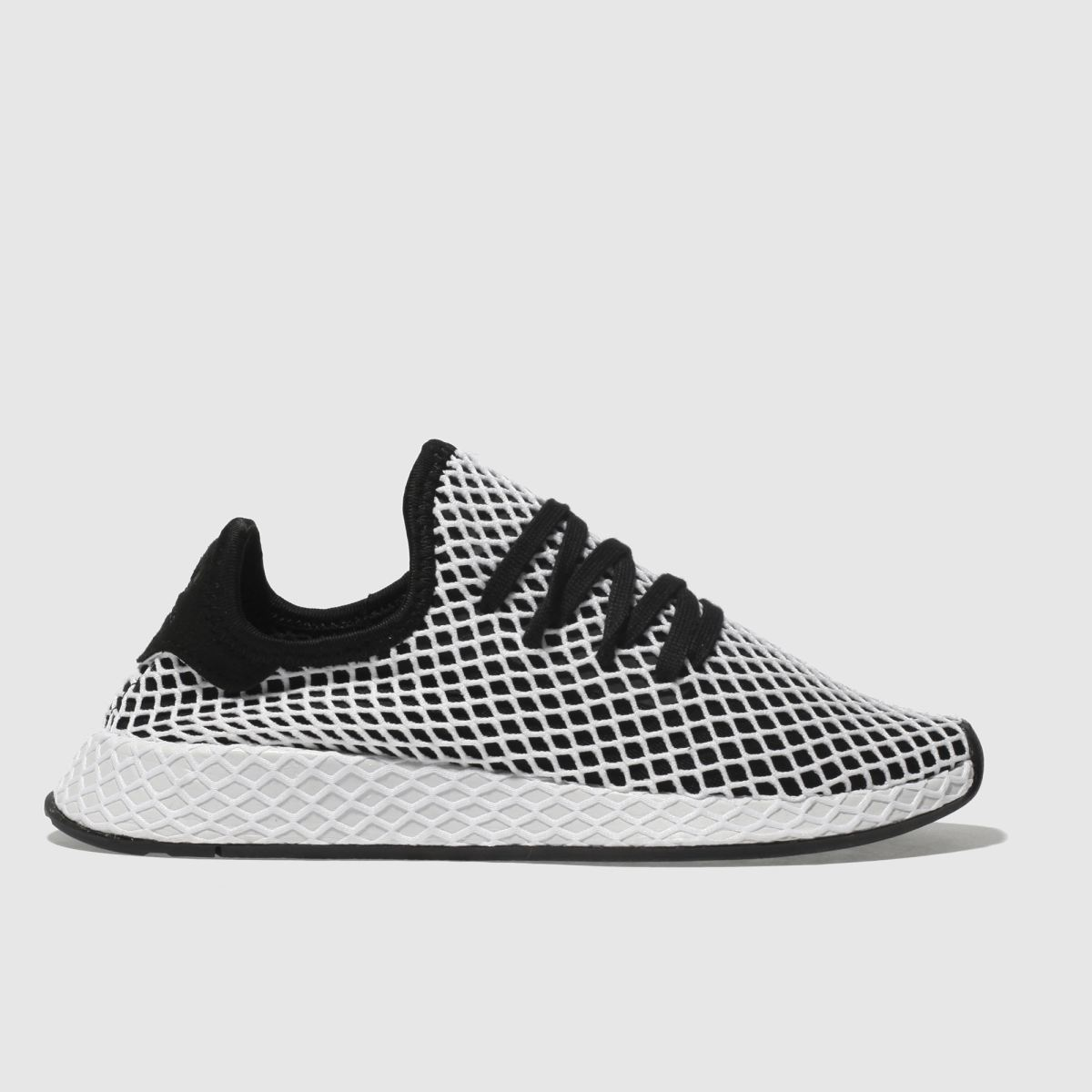 Adidas Black & White Deerupt Runner Trainers