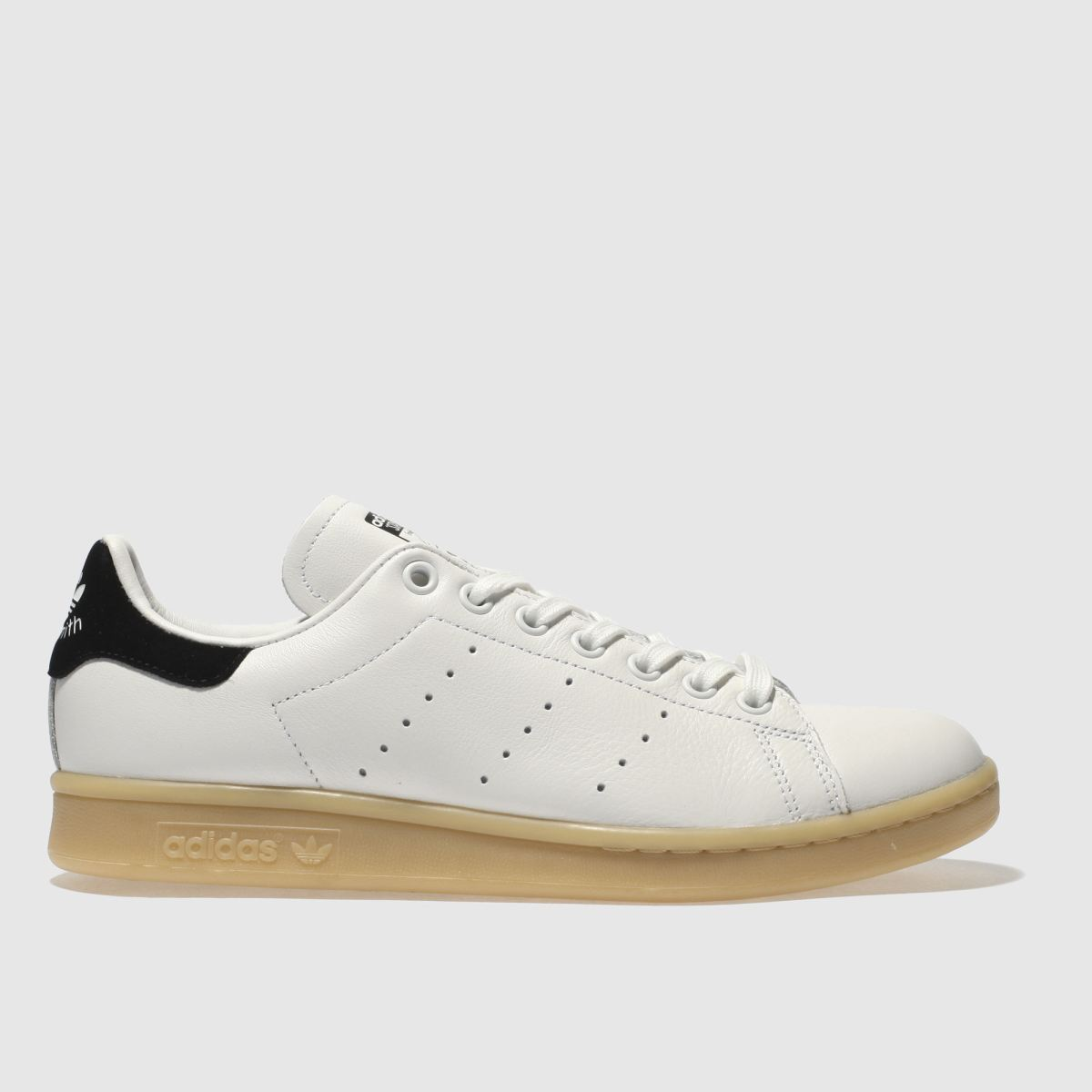 Adidas White & Black Stan Smith Leather Gum Trainers