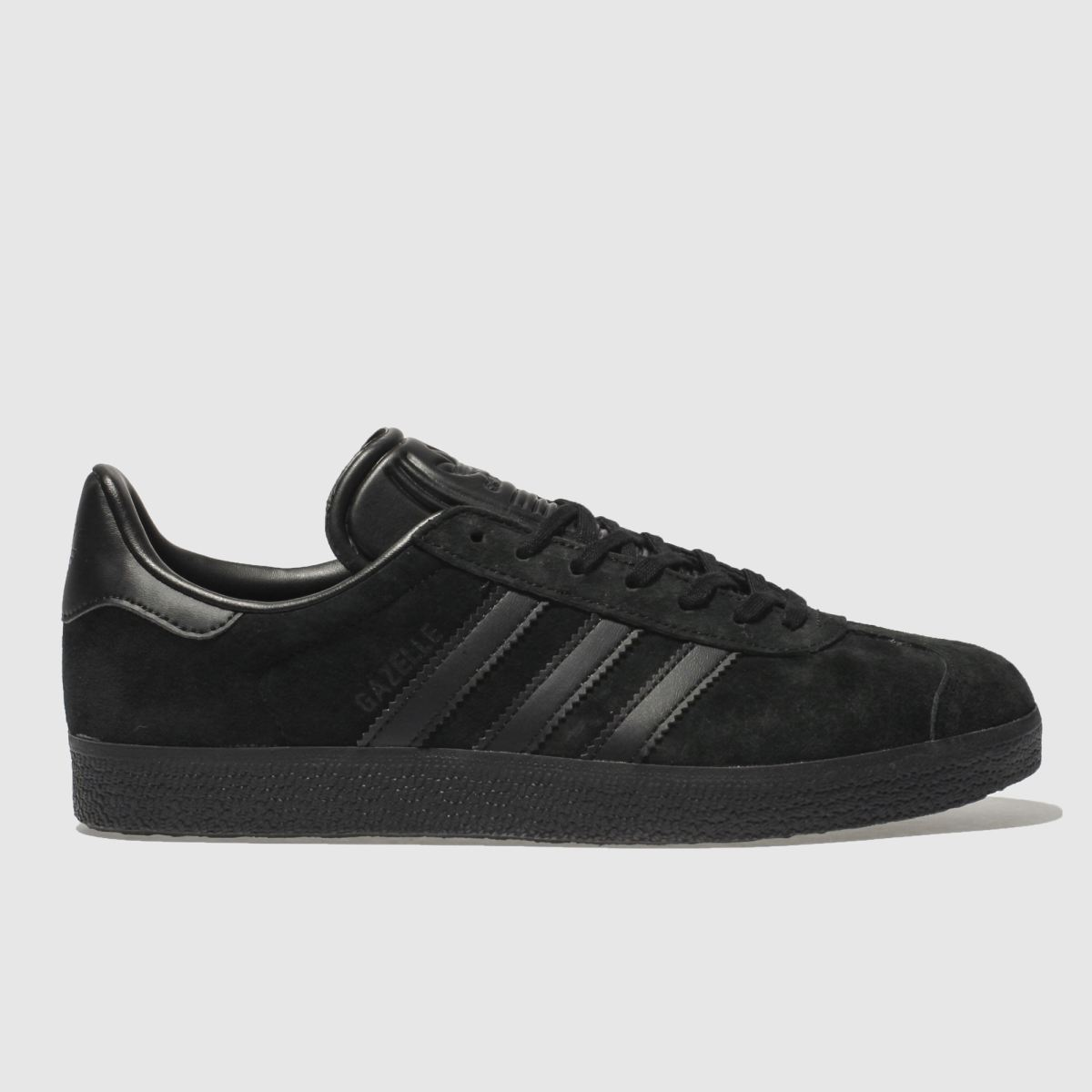Adidas Black Gazelle Suede Trainers