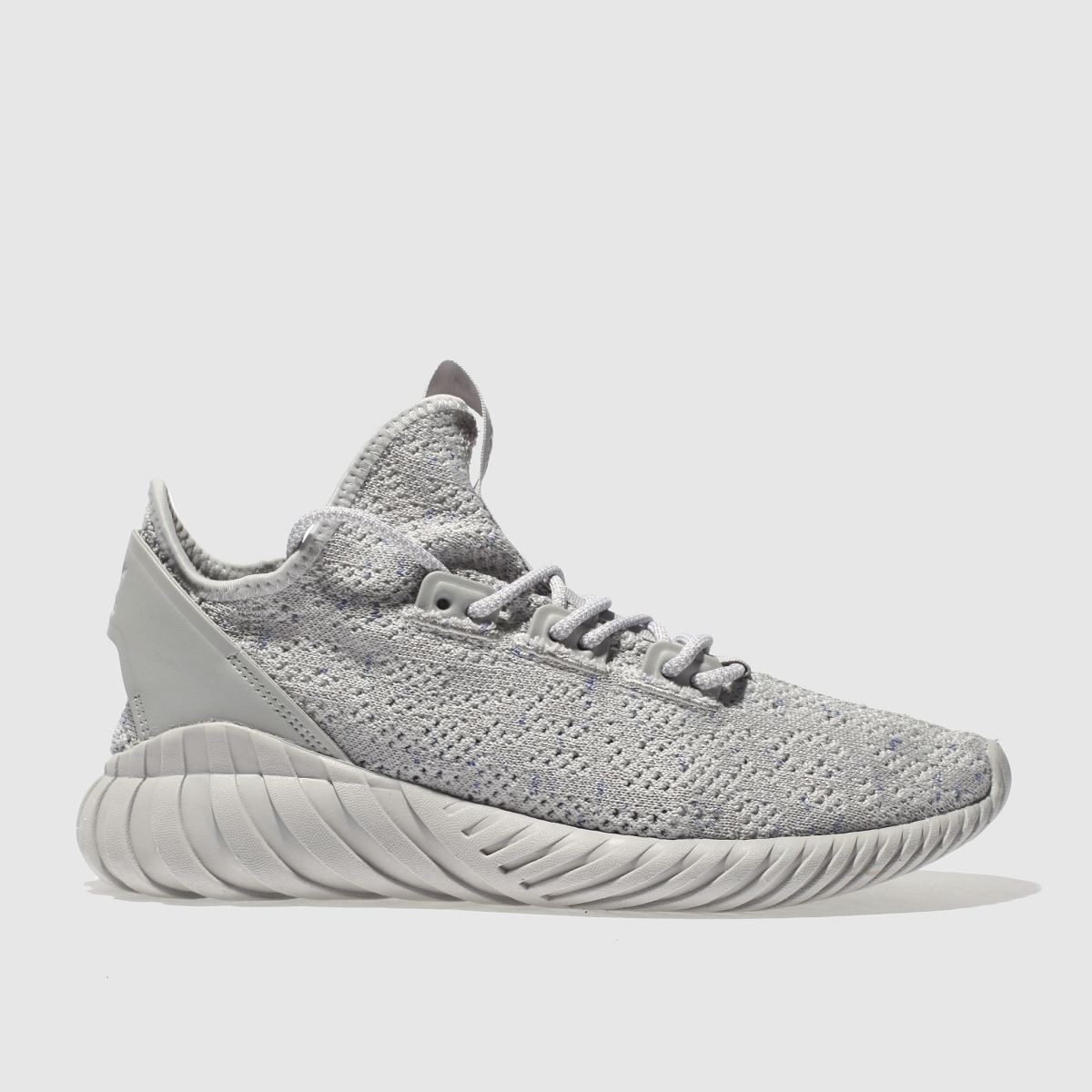 Adidas Grey Tubular Doom Sock Primeknit Trainers