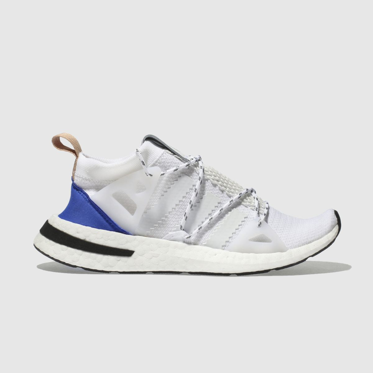 Adidas White & Blue Arkyn Trainers