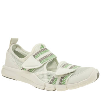 Adi Stella Sport White & Green Zilia Womens Trainers