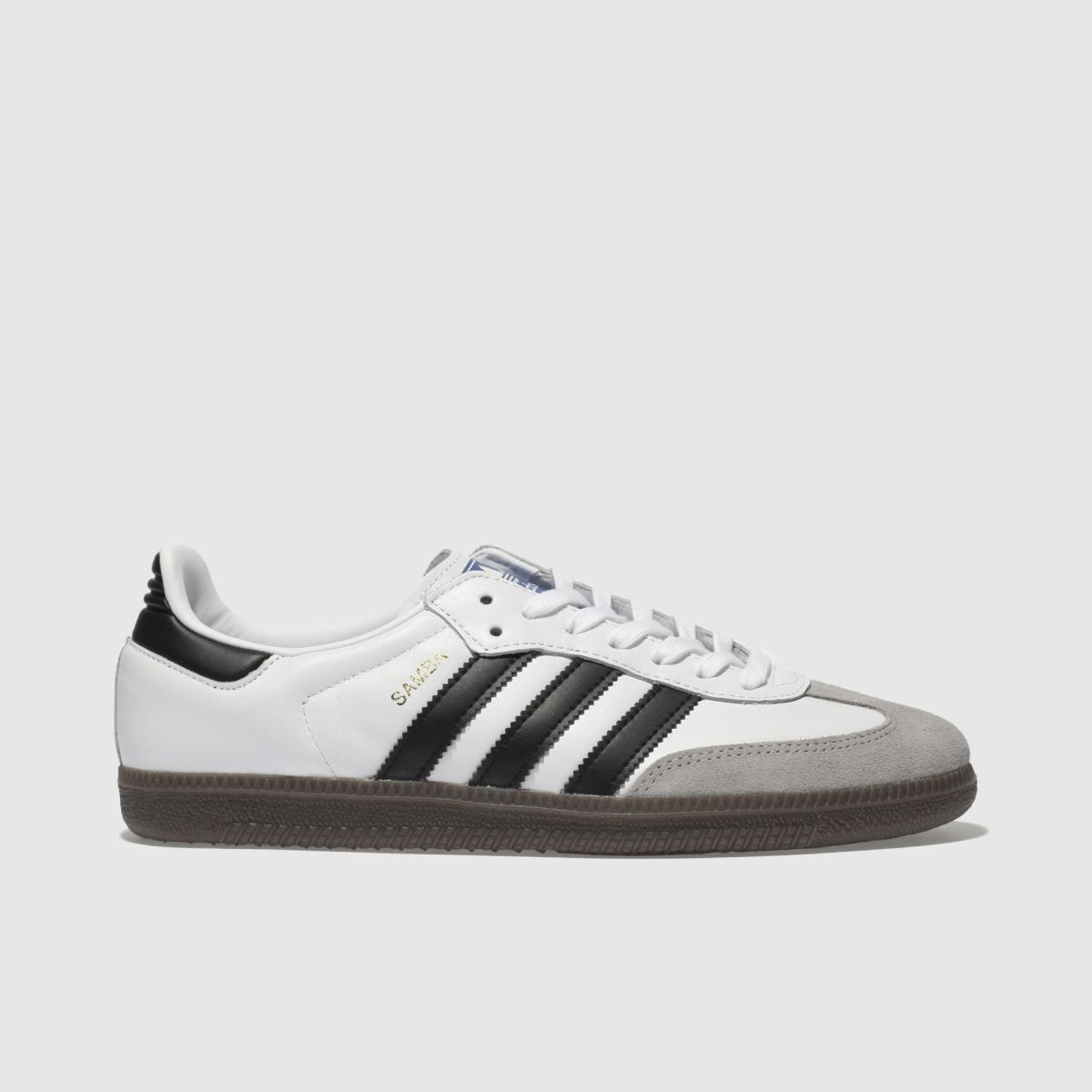 Adidas White & Black Samba Og Trainers