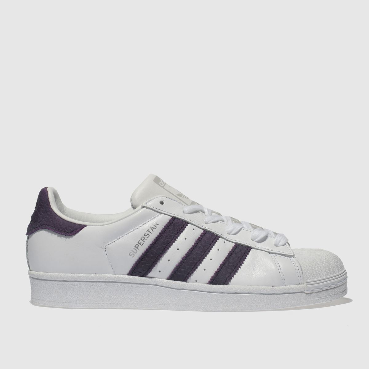 Adidas White & Purple Superstar Trainers