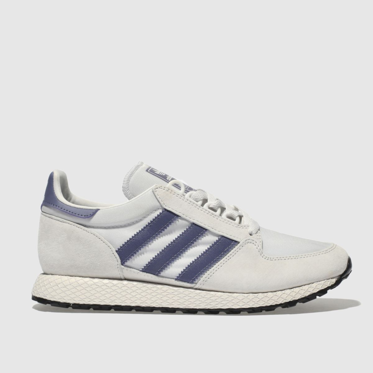 Adidas Light Grey & Lilac Forest Grove Trainers