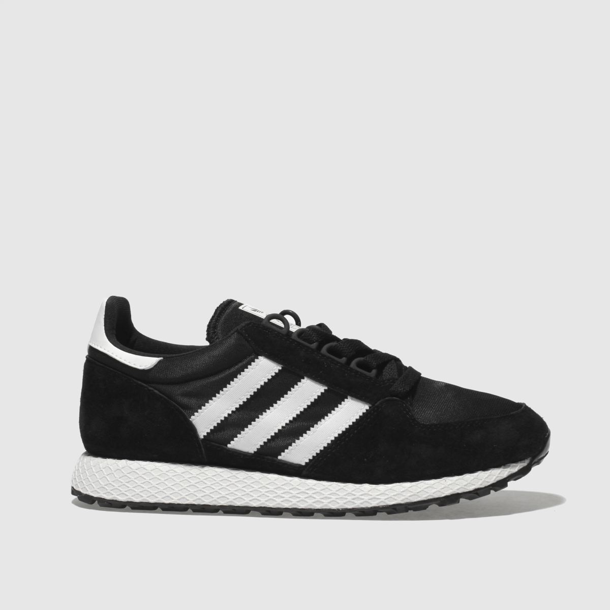 Adidas Black & White Forest Grove Trainers