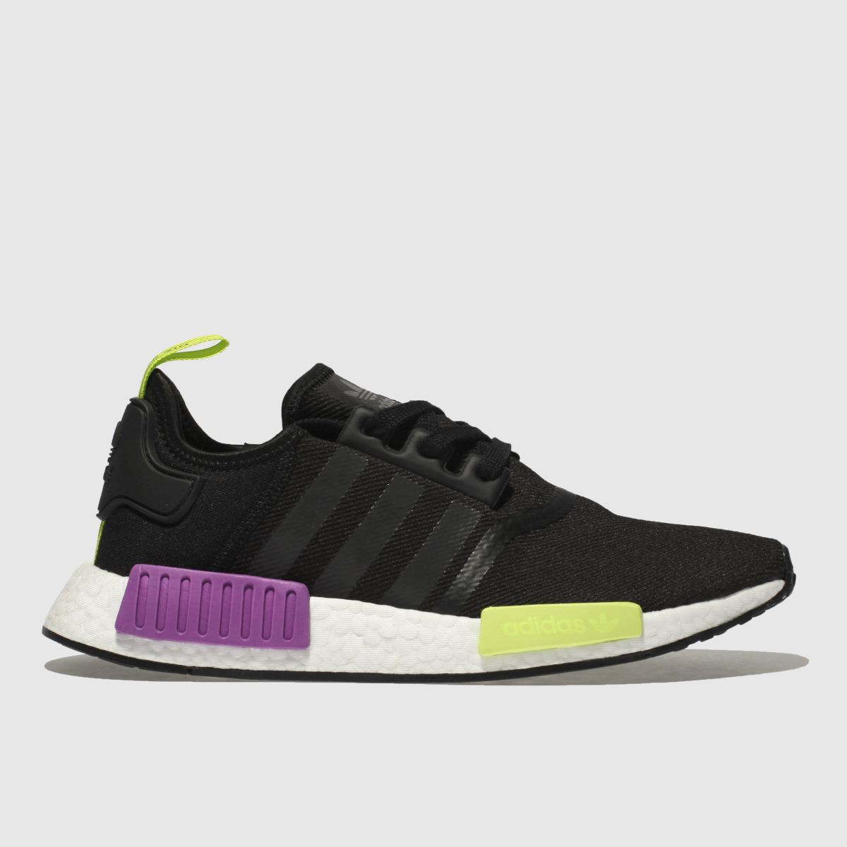 Adidas Black & Purple Nmd R1 Trainers