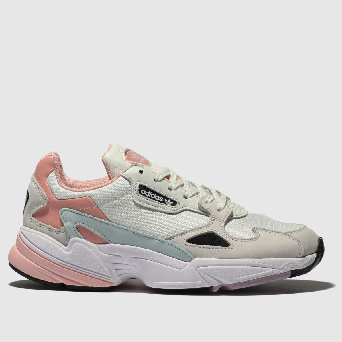 Adidas White & Pink Falcon Trainers