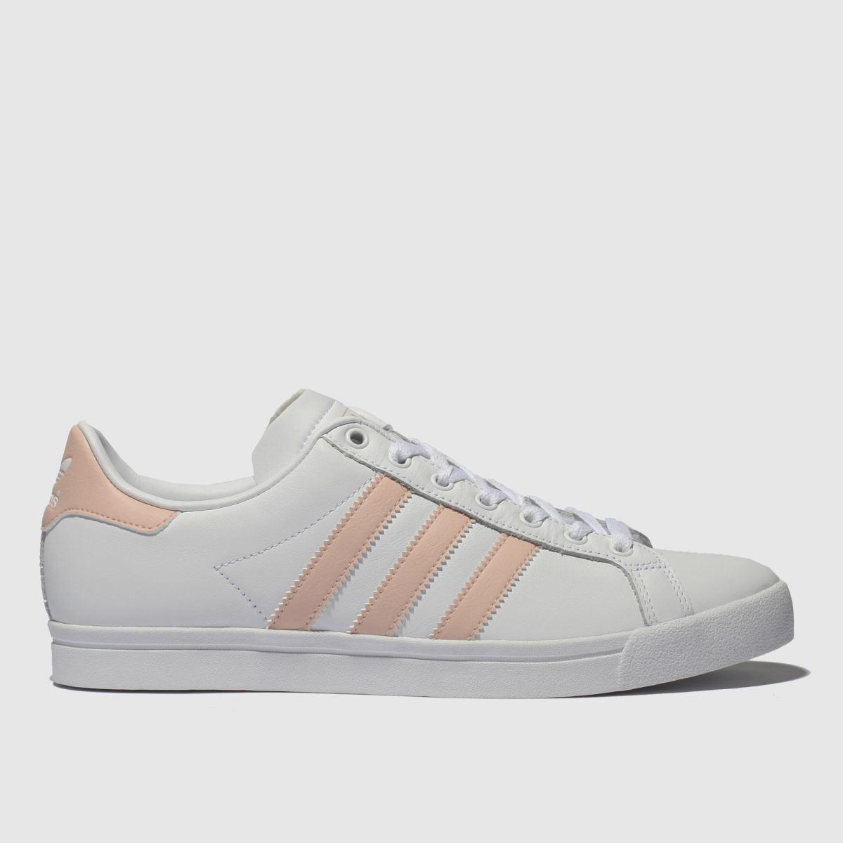 Adidas White & Pink Coast Star Trainers