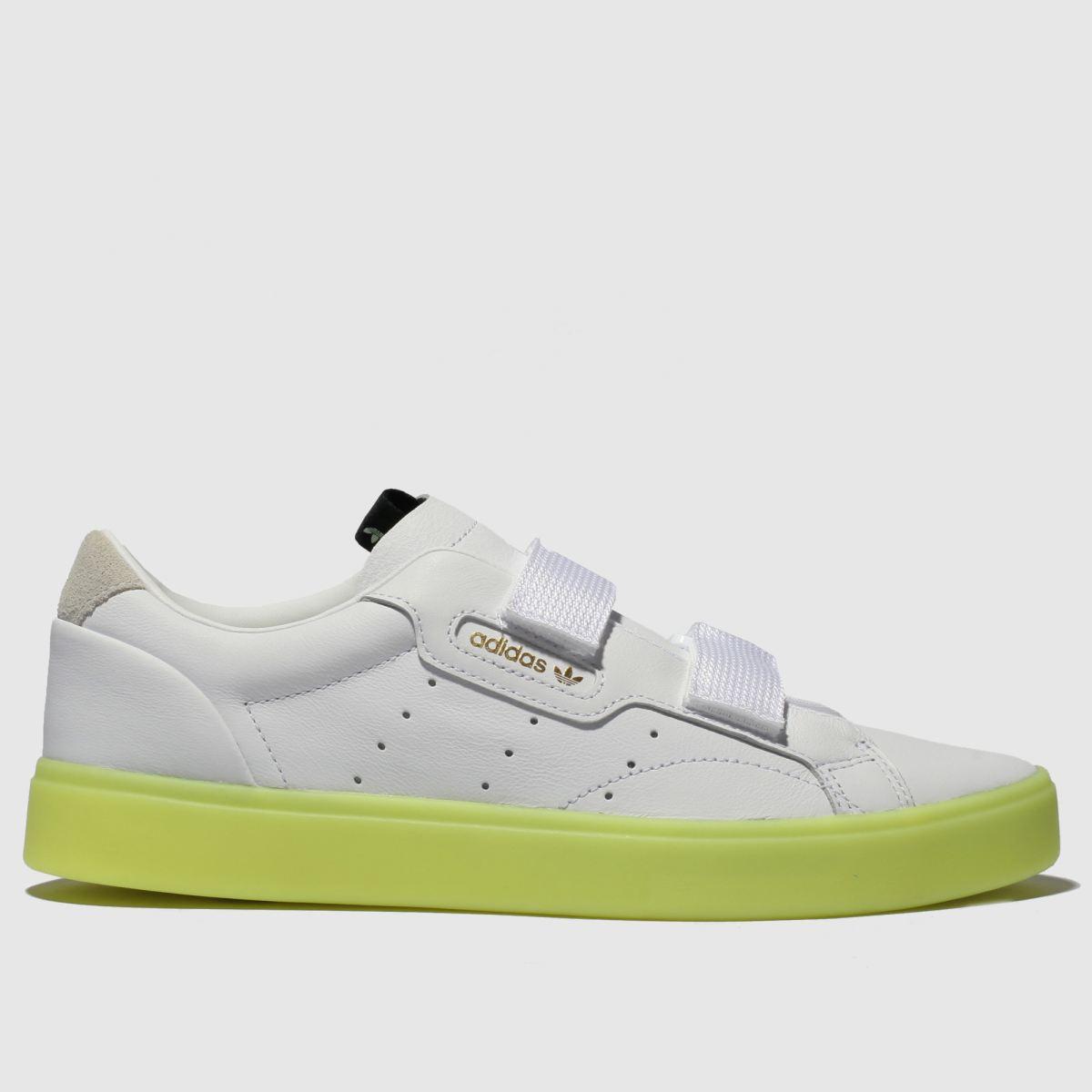 Adidas White & Yellow Sleek S Trainers