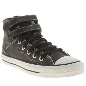 womens converse black & white as 2 strap hi trainers