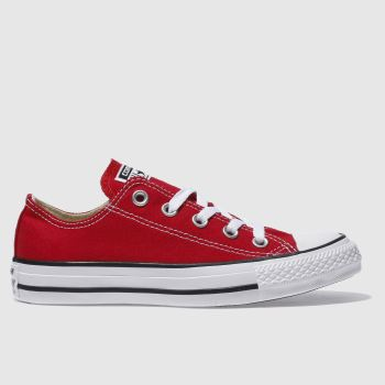 Converse Red All Star Oxford Womens Trainers