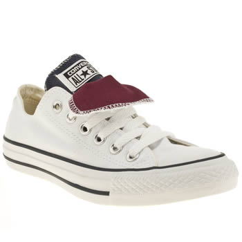 womens converse white as double tongue ox ii trainers