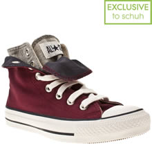 Burgundy Converse All Star Two Fold Hi Ii