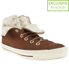 Tan Converse All Star Two Fold Suede Hi Ii