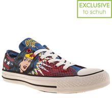 Blue & Yellow Converse All Star Ox Iii Wonder Woman