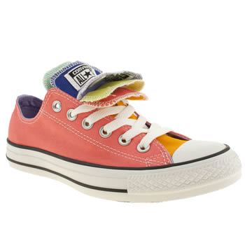 Womens Converse Peach Multiple Tongue Ox Ii Trainers