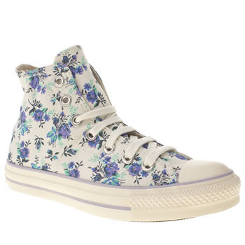 womens converse natural all star hi iii floral trainers