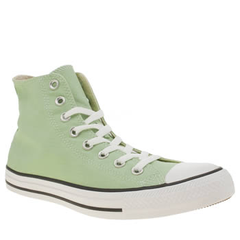 Converse Light Green All Star Hi Trainers