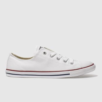 Womens Converse White All Star Dainty Canvas Trainers
