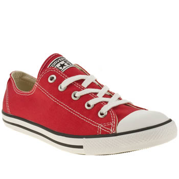 womens converse red dainty canvas trainers