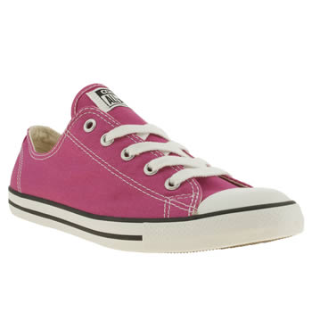 womens converse pink dainty ox trainers