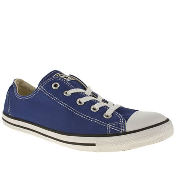 Womens Converse Blue All Star Dainty Canvas Trainers