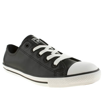 Womens Converse Black As Dainty Leather Trainers