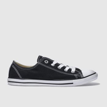 Converse Black As Dainty Canvas Trainers