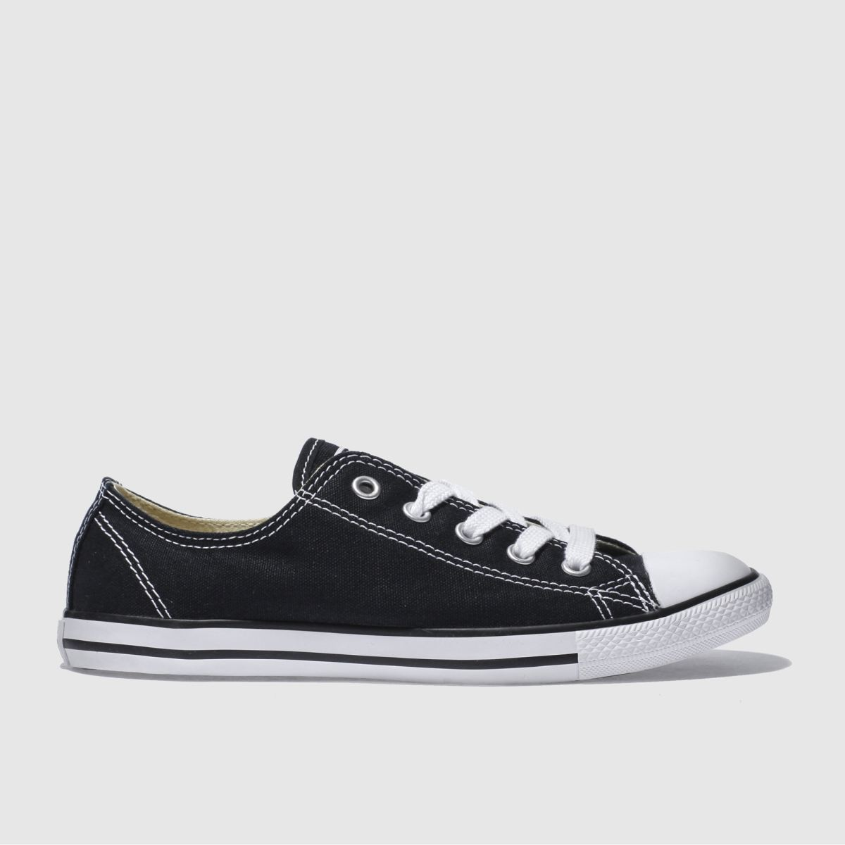converse black all star dainty canvas trainers