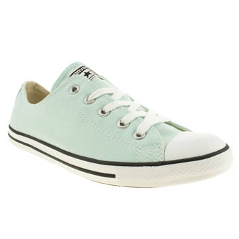 womens converse light green dainty trainers
