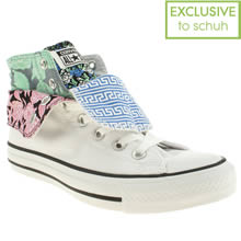 White & Black Converse Two Fold Hi Iii Floral