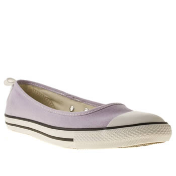womens converse lilac all star dainty ballerina trainers