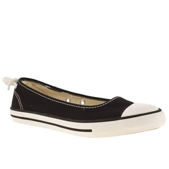 Womens Converse Black & White All Star Dainty Ballerina Trainers