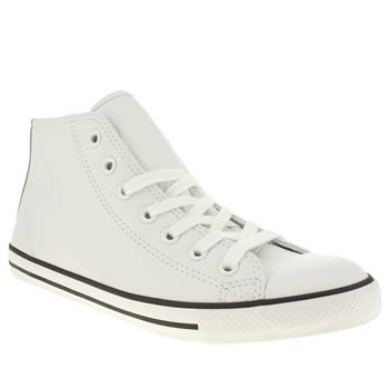 womens converse white dainty mid leather trainers