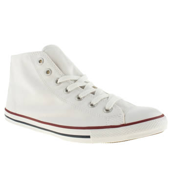 womens converse white all star dainty mid canvas trainers