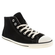 Black & White Converse All Star Dainty Mid Shearling