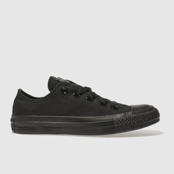 Womens Converse Black All Star Oxford Mono Trainers