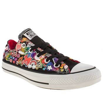 womens converse multi ox sticker print trainers