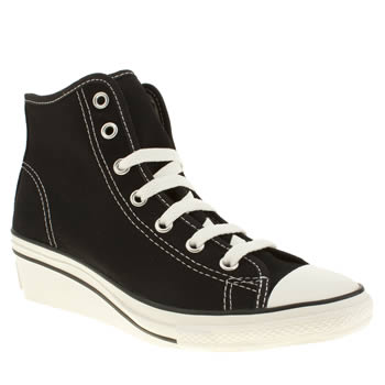 womens converse black all star hi-ness trainers