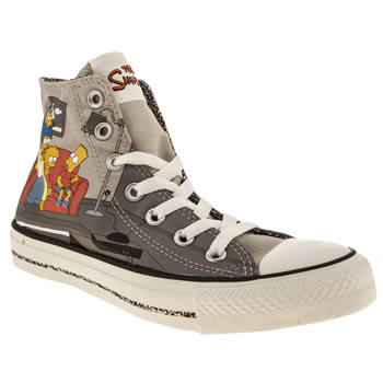 womens converse light grey all star simpsons couch hi trainers