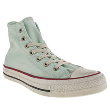 Light Green Converse Well Worn Hi