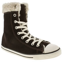 Brown Converse All Star Dainty Shearling Hi