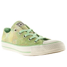 White & Green Converse All Star Ox Vi Tie-dye