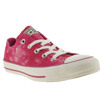 Converse White & Pink Ox Vi Tie-dye Trainers
