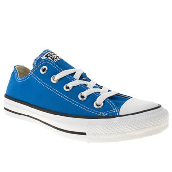 womens converse blue all star ox vi trainers