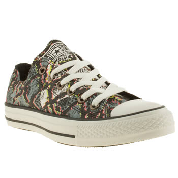 Converse Black & Grey Ox Vi Multi Snake Trainers