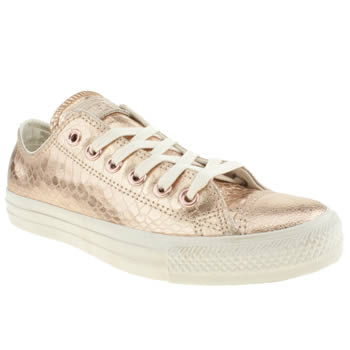 womens converse gold elevated glam ox trainers